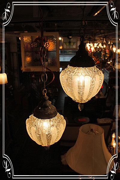 151218twinpendantpumpkindotslamp