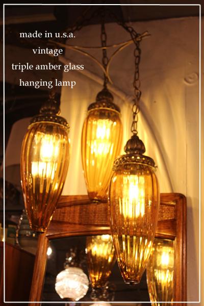 170723tripleamberhanginglamp